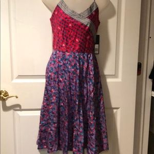 NWT Marc Jacobs Red Clover side zip strap Dress 6